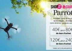 Bon d'achat Parrot moitié prix : 40€ pour faire 80€ d'achat (120€ pour 240€)