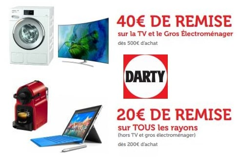 Code promo DARTY remise immediate