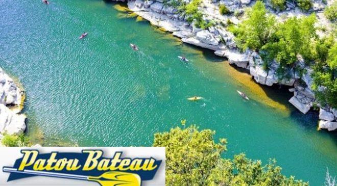 Descente de l'Ardèche en canoë à 2 ou 4 personnes pas chère