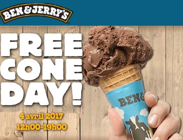 Free Cone Day 2017 : glace Ben & Jerry's gratuite