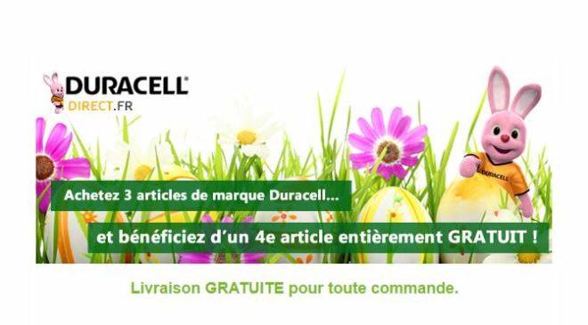 Le 4ème article Duracell gratuit