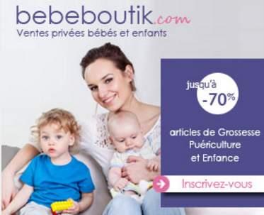Les ventes privées Bebeboutik : jusqu'à - 70% sur des articles pour bébés et femmes enceintes