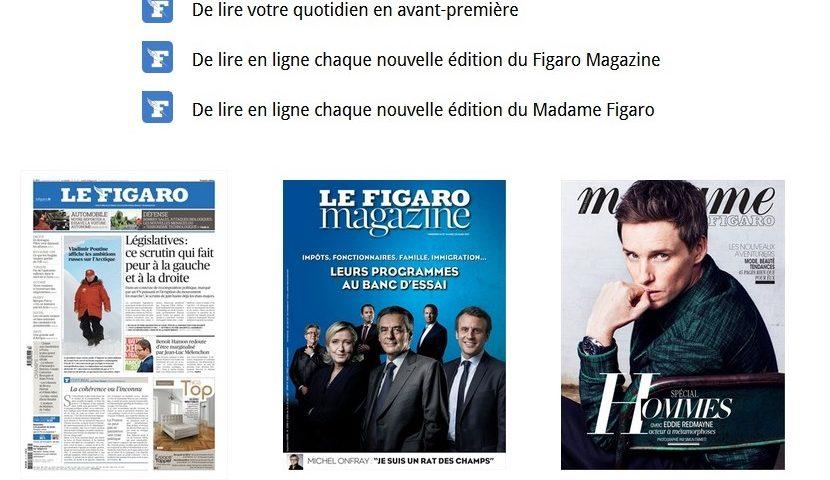 Lisez gratuitement le Figaro tous les jours pendant 6 mois