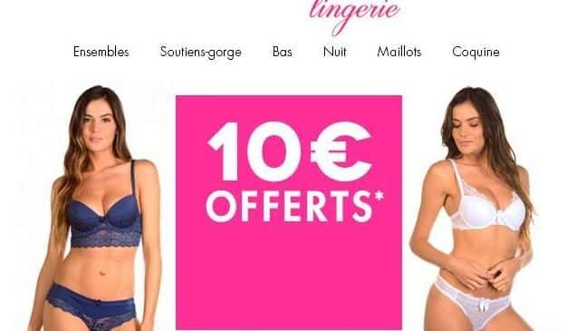 Mademoiselle lingerie : remise de 10€