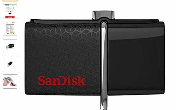 Moins de 20€ la Clé USB 3.0 Ultra 64 Go Sandisk double connectique