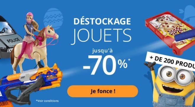Nouveau déstockage de jouets et jeux sur Auchan