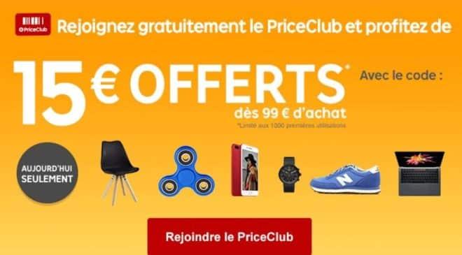PriceDay Priceminister 15 euros de remises