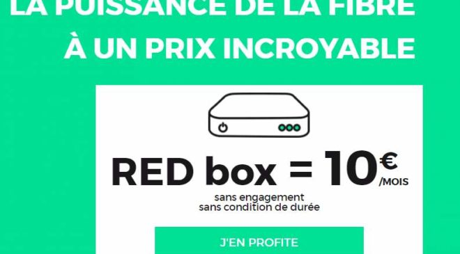 RED box SFR fibre pas chere
