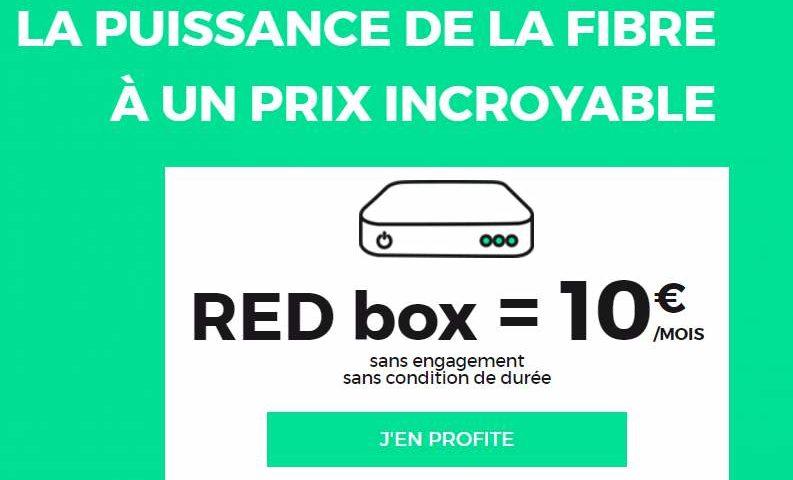 RED box SFR fibre pas chere