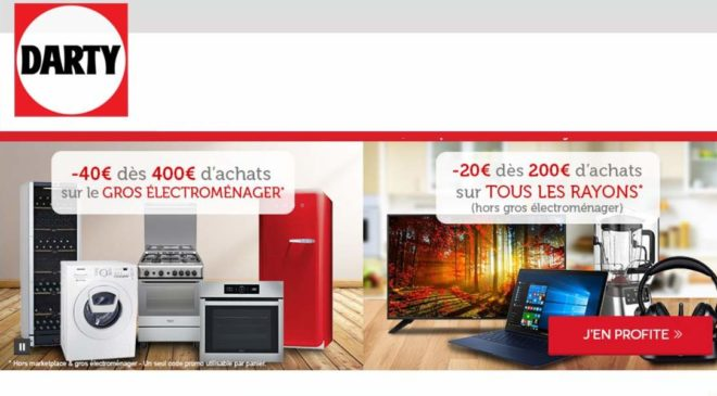 Remise immediate Darty CODE PROMO