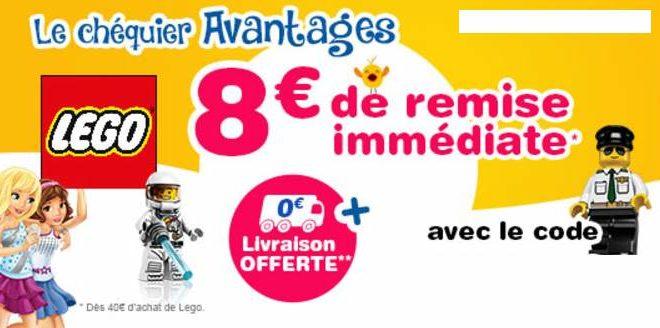 Remise immédiate Lego sur Toys'R US : -8€ dès 40€ d'achat + livraison gratuite 🚚