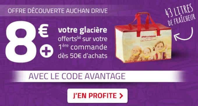 Remise sur Auchan Drive de 8€