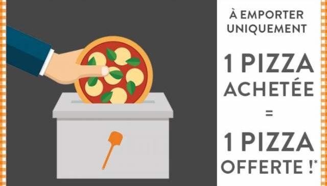 Spécial élection Tablapizza ! 1 pizza à emporter gratuite pour 1 achetée 🍕
