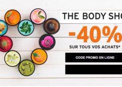 Forte remise de 40% sur tout The Body Shop (jusqu'à dimanche)
