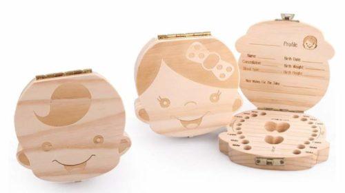 boîte pour dents de lait en bois pas chère
