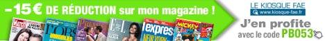 bon plan abonnement magazine remise 15 euros sans minimum