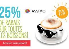 Vos capsules Tassimo moins chères avec le code promo -25%