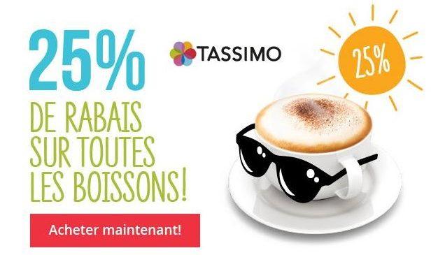 capsules Tassimo code promo -25%