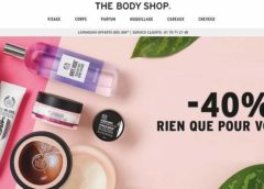 Forte remise de 40% sur tout The Body Shop (jusqu'à samedi)