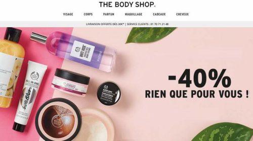 remise de 40% sur tout The Body Shop