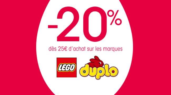 remise sur Lego et Duplo