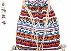 Moins de 4 euros (port inclus) le sac en tissus fermeture bandoulière corde