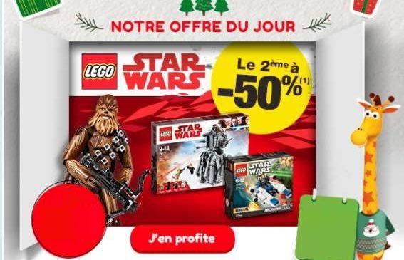 1 Lego Star Wars acheté = le 2ème à moitié prix