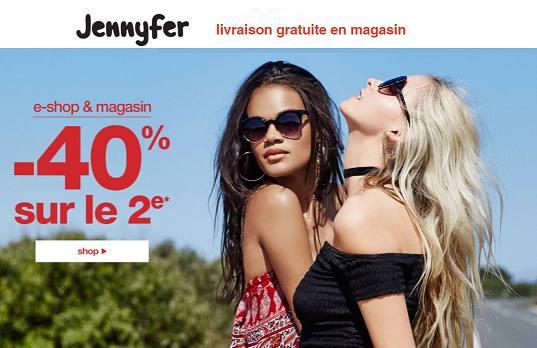 1 article achete Jennyfer le second a -40%