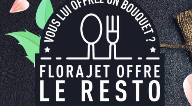 1 bouquet offert 🌹 = 1 restaurant offert 🍴 avec Florajet
