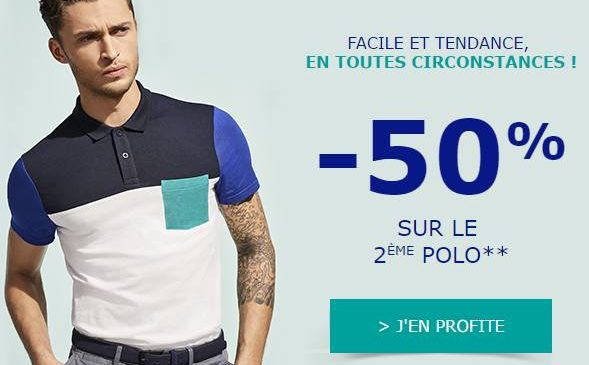 1 polo Jules acheté le second à -50%