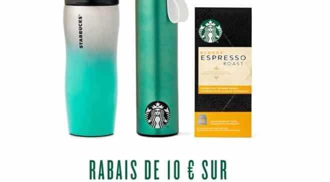 10€ de remise sur Starbucks boutique