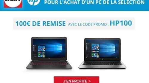 100€ de remise immédiate sur 30 ordinateurs HP