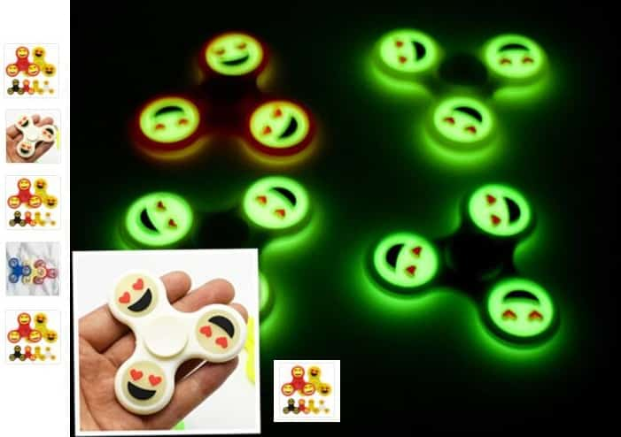 1,06€ le Hand Spinner smiley phosphorescent