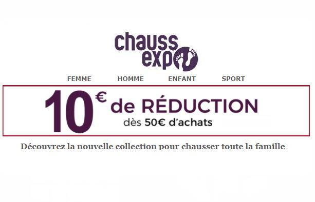 10€ de réduction sur ChaussExpo