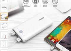 Vente flash : 18€ la batterie externe Aukey 20000 mAh 🔋(2 Ports : 5V / 2.1A + 5V / 1A)