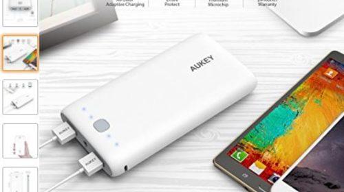 18€ la batterie externe Aukey 20000 mAh