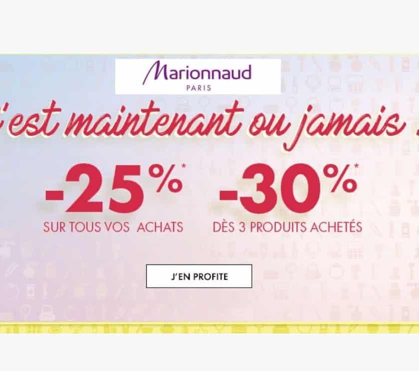 25% de remises immédiates sur Marionnaud
