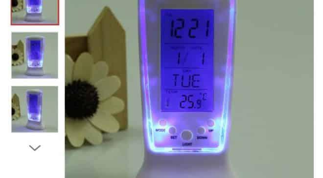 horloge thermomètre calendrier