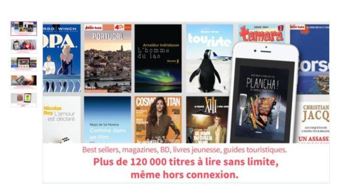 29€ pour 1 an d'abonnement ebook illimité sur tablette, smartphone…