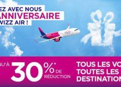-30% sur les billets d'avion Wizz Air réservés aujourd'hui ✈️