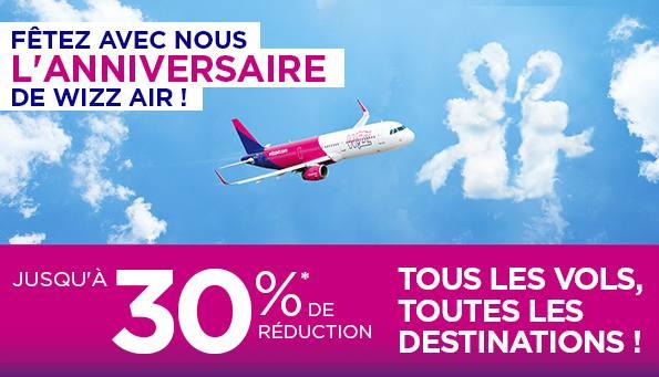 -30% sur les billets d'avion Wizz Air
