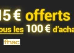 BON PLAN FNAC : 15€ offerts tous les 100€ d'achats + carte FNAC+ à 10,99€ (au lieu de 49€)