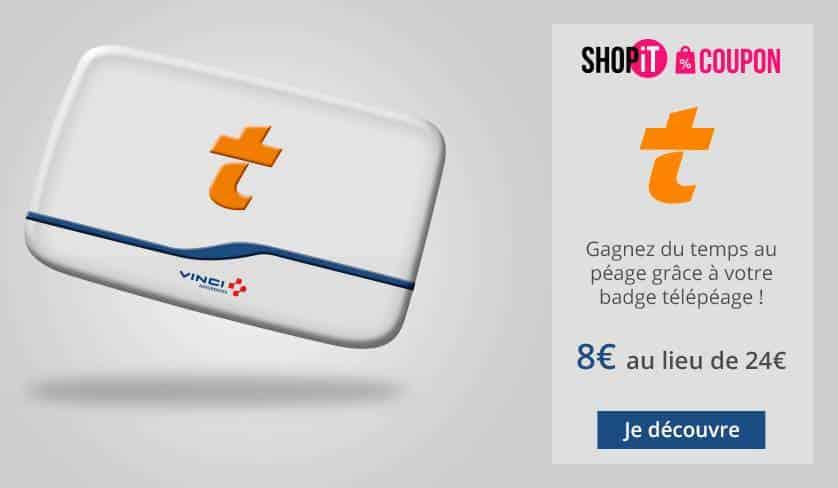 Badge Télépéage Vinci à 8€ l'année