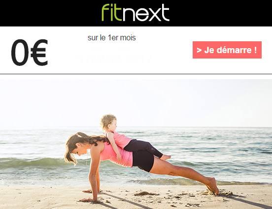 Bon plan coaching Fitnext : 1 mois gratuit