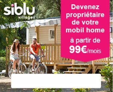 Devenez proprietaire d'un mobil home pour 99€
