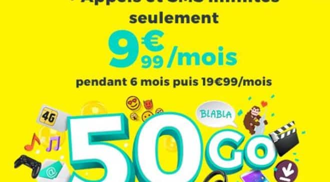 Forfait Cdiscount Mobile 50Go a 9,99€
