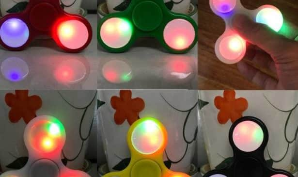 Hand Spinner lumineux LED à 1,45€