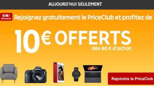 Jusqu'à minuit sur Priceminister : -10€ à partir de 60€