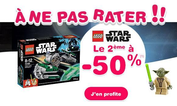 Lego Star Wars acheté = le 2ème à moitié prix