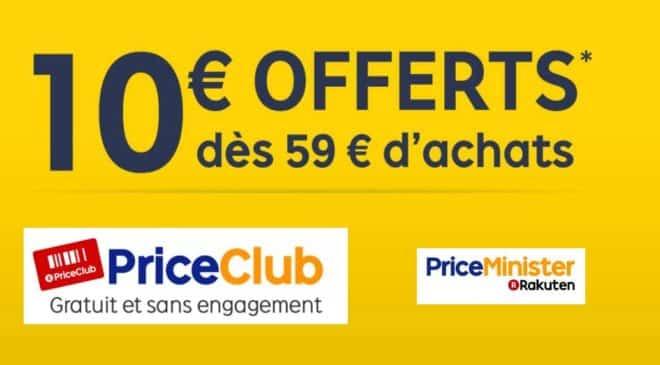 Priceminister : -10€ à partir de 59€ sur tout le site